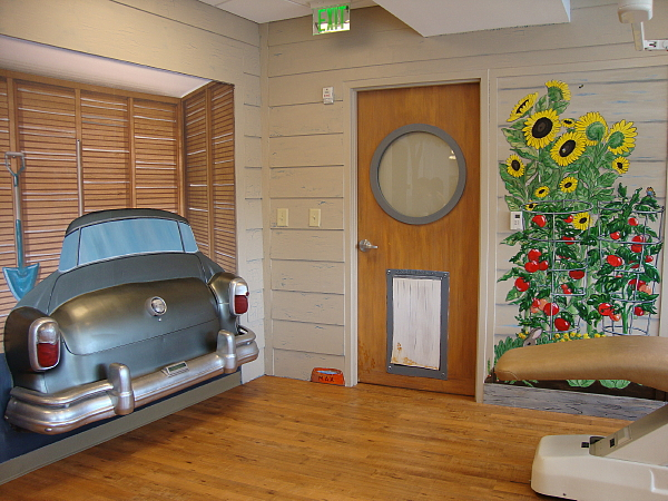 Car on the Wall at the Pediatric Dentist in Alpharetta and Cumming